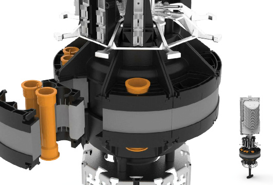 Cierre modular de empalmes para infraestructuras de fibra