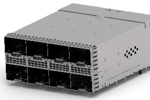 Conectores apilados cara-a-cara para fibra