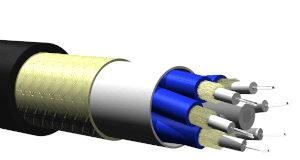 Cable flexible industrial de fibras ópticas