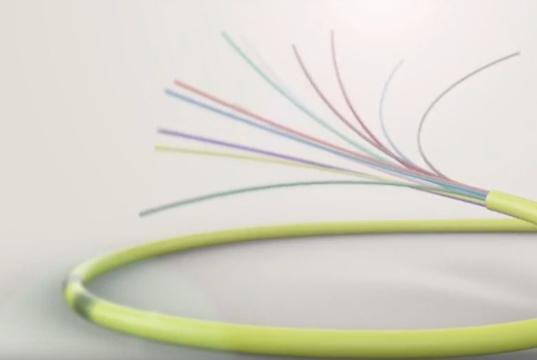 Fibra óptica de 180 micras insensible a la curvatura