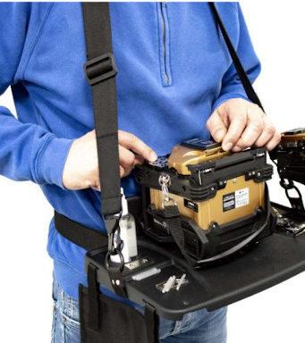 Mesa portátil para instaladores de fibra óptica
