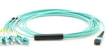 Cables breakout MPO en modelos OM3, OM4 y OM5