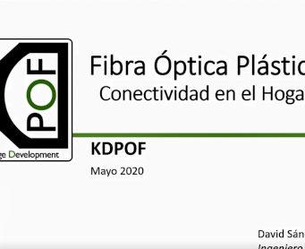 Grabación del webminar Fibra Óptica Plástica Gigabit