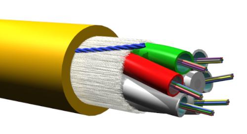 Cables B2ca de fibra óptica con protección ante el fuego