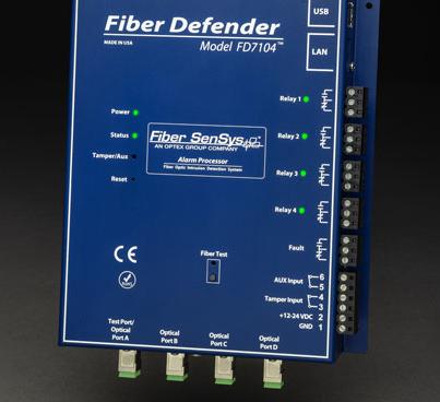 Detector de intrusiones Fiber Defender FD7104 para fibra óptica