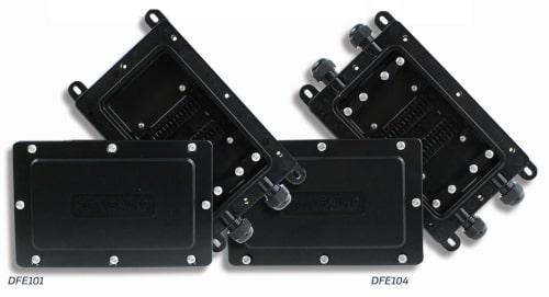 Cajas de empalme y terminación DFE101 y DFE104 para fibras ópticas